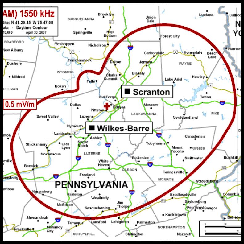 Wilkes-barre, Scranton, Pennsylvania, 1550 AM