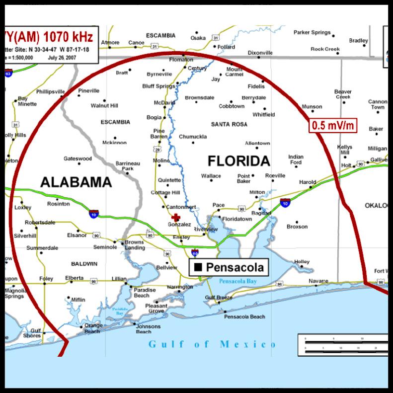 Pensacola, Florida, 1070 AM